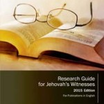 Research Guide for Jehovah's Witnesses cover 2015