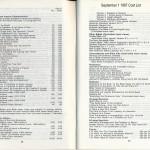 Watchtower Price List 1987