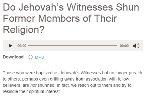 Do Jehovah's Witnesses Shun Former Members?