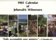 1985 Calendar of Jehovah's Witnesses