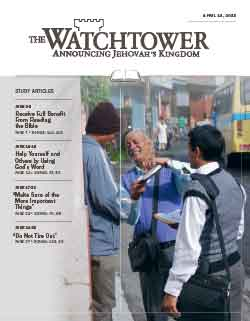 The Watchtower 2013 Study April 15 image