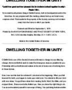 Dwelling Together in Unity (1974)