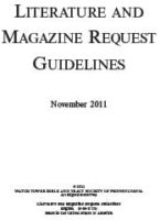 Literature and Magazine Request Guidelines (November 2011)