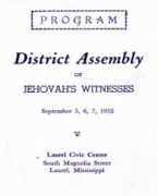 District Assembly of Jehovah's Witnesses (1952)
