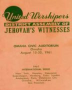 United Worshipers District Assembly of Jehovah's Witnesses (1961)