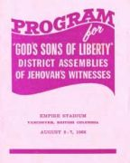 God's Sons of Liberty District Assemblies of Jehovah's Witnesses (1966)