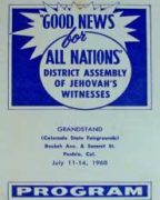 Good News for All Nations District Assembly of Jehovah's Witnesses (1968)