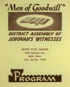 Men of Goodwill District Assembly of Jehovah's Witnesses (1970)