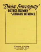 Divine Sovereignty District Assembly of Jehovah's Witnesses (1975)
