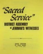 Sacred Service District Assembly of Jehovah's Witnesses (1976)
