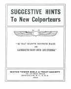 Suggestive Hints to New Colporteurs (1912)