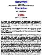 St. Louis International Convention Report (1904)