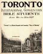 Toronto International Convention Report (1927)