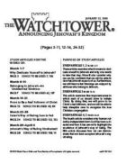 The Watchtower Study Edition January 15, 2010