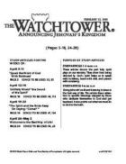 The Watchtower Study Edition February 15, 2010
