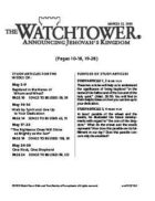 The Watchtower Study Edition March 15, 2010
