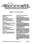 The Watchtower Study Edition April 15, 2010
