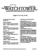 The Watchtower Study Edition June 15, 2010