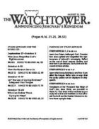 The Watchtower Study Edition August 15, 2010