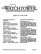 The Watchtower Study Edition September 15, 2010