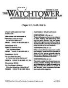 The Watchtower Study Edition October 15, 2010