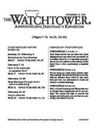 The Watchtower Study Edition December 15, 2010