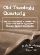 Old Theology Quarterly #15