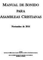 Manual de Sonido para Asambleas Cristianas (Noviembre 2016)