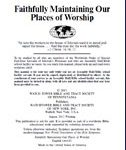 Faithfully Maintaining Our Places of Worship