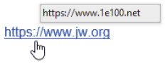 How to determine if a link is safe? the real address of the link will display.